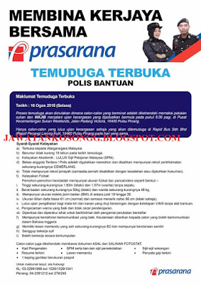 Polis Bantuan Prasarana Interview