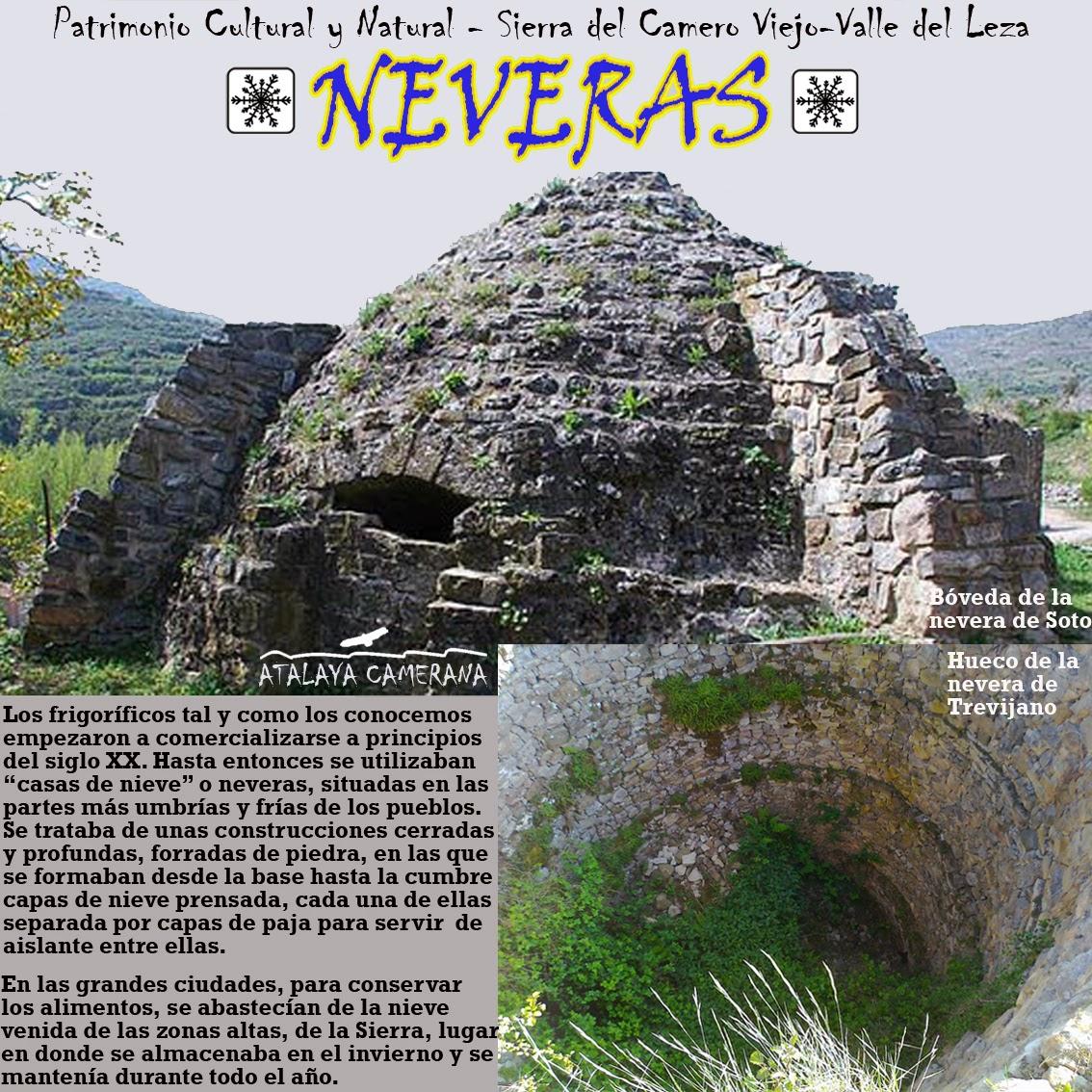 Sierra del Camero Viejo - Valle del Leza. Patrimonio Cultural y Natural. Neveras.
