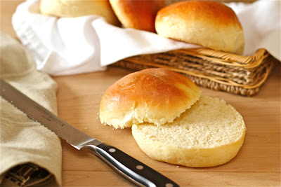 Homemade sandwich buns for hamburgers or Thanksgiving leftovers