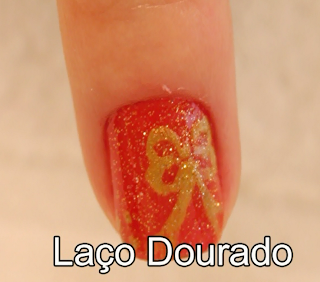 desenho natalino lao dourado