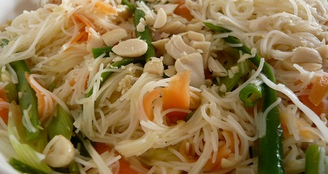 Rice Noodles with Stir Fried Vegetables