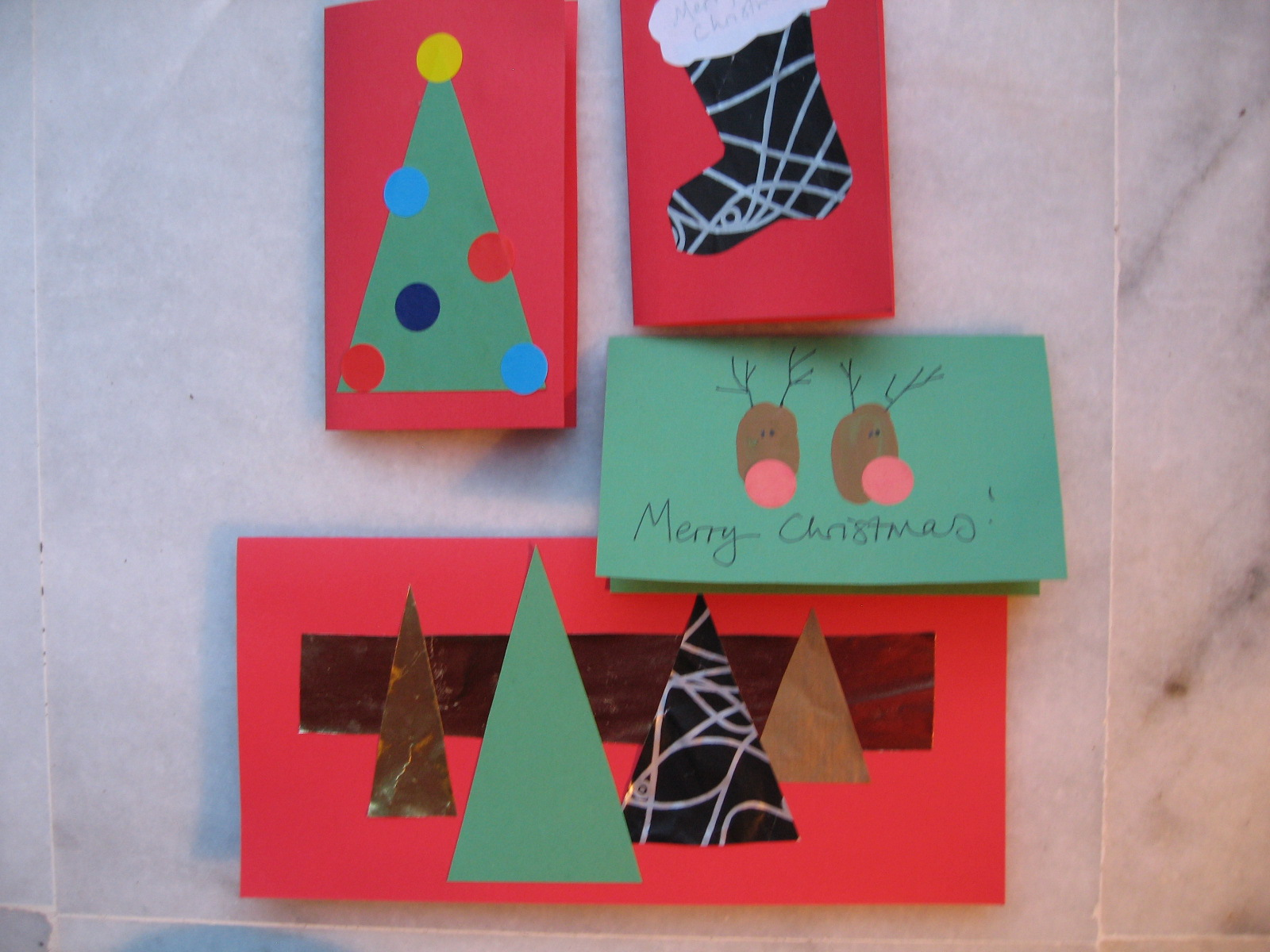 Craft with Jack: Very Very Easy Christmas Cards