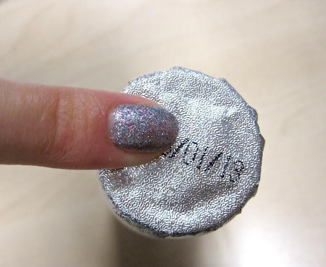 w7 moondust swatch actimel glitter nail polish