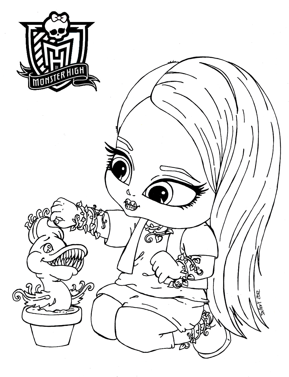 Monster High Venus Coloring Pages