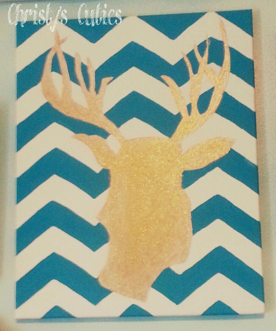 Christy\'s Cuties: Glitter Deer Head Wall Art