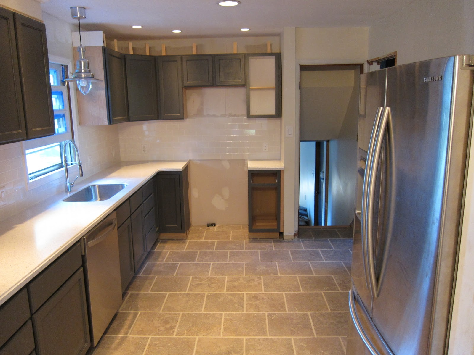 Charcoal Grey Kitchen Cabinets  Construction  Haven Home  Business