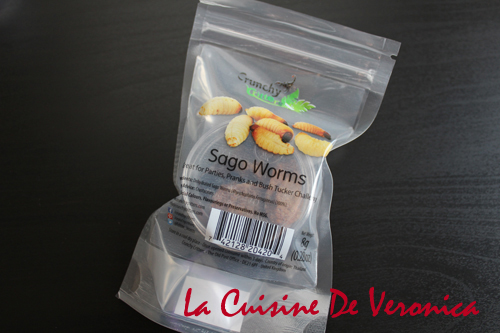 碩莪蟲 Sago Worms 昆蟲零食 Insect Snacks