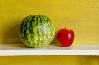 Manzana y sandía
