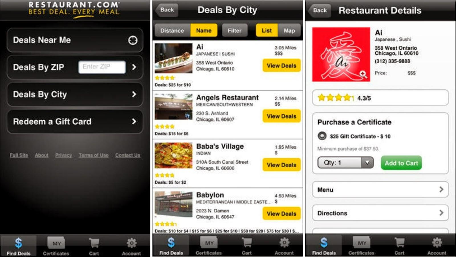 Restaurant.com app