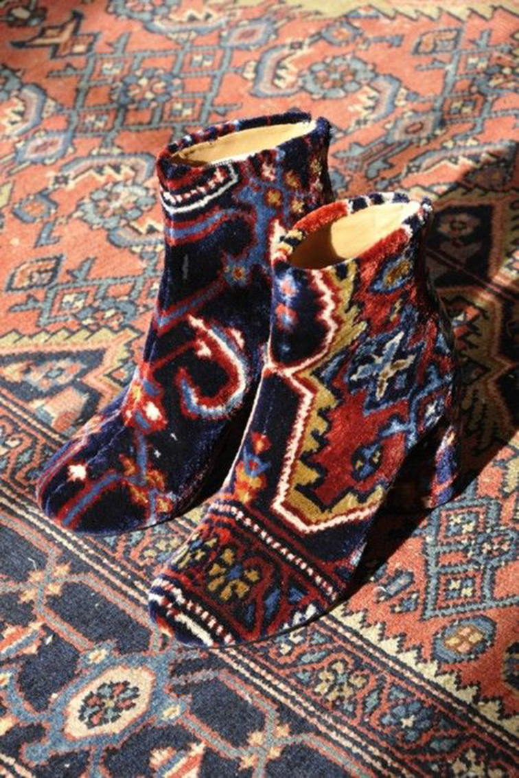 """Psychedelic Margiel Carpet Boots from Margiela's S/S 2012 """"throwback"""" collection"""
