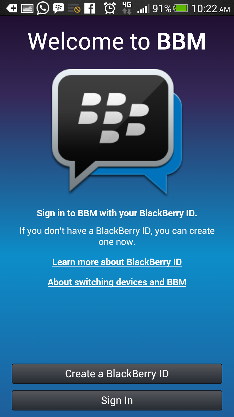 Cara Instal BBM (BlackBerry Messenger) di OS Android