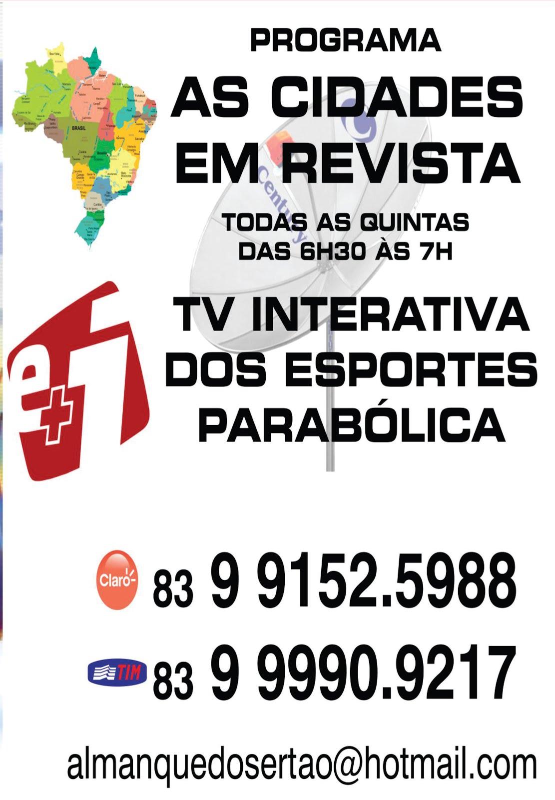 BREVE BREVE BREVE  O PROGRAMA  AS CIDADES  EM REVISTA NA TELEVISÃO  NACIONAL DO BRASIL  AGUARDEM