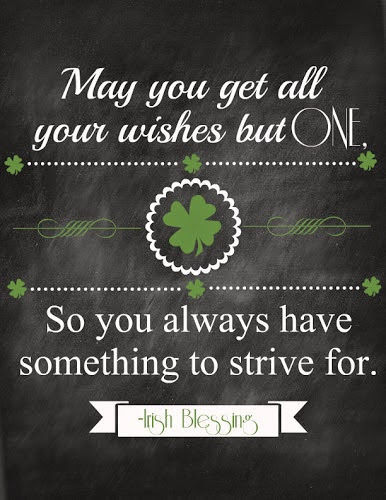 Printable Chalkboard Irish Blessing