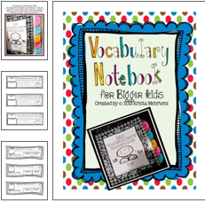 http://www.teacherspayteachers.com/Product/Vocabulary-Notebook-for-Bigger-Kids-822597