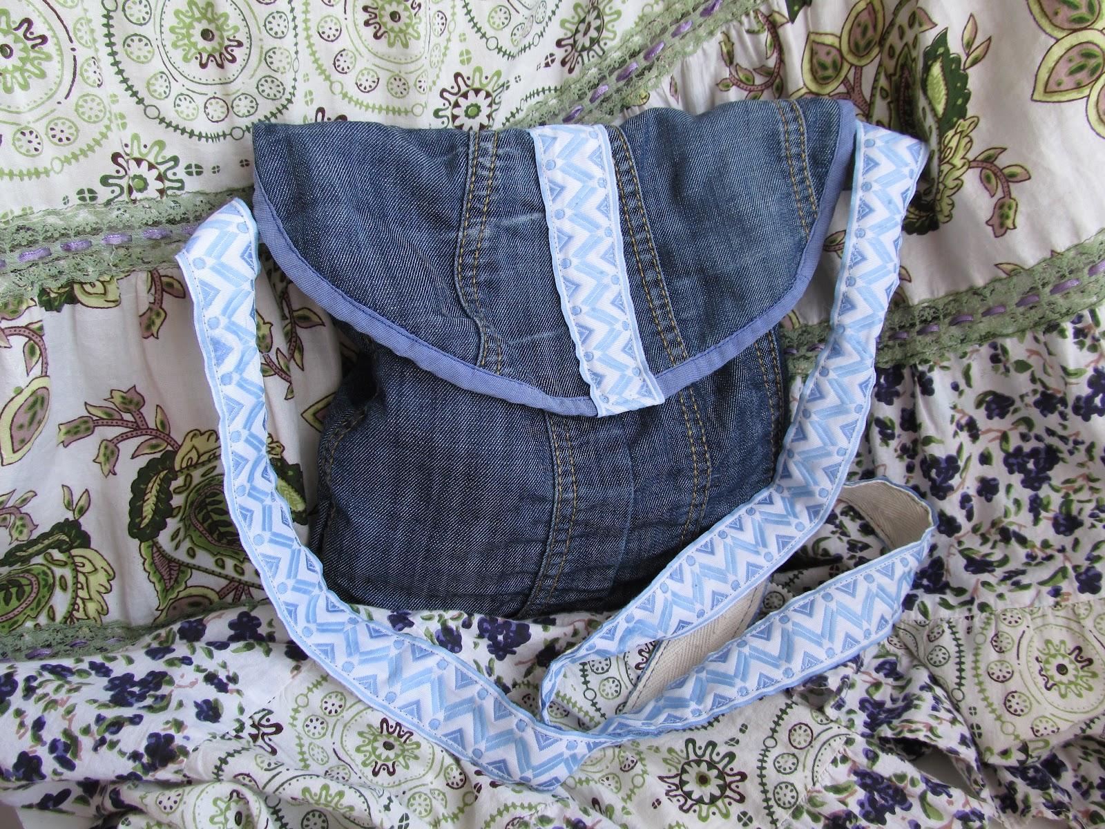 Как сделать сумку через плечо из джинс своими руками
