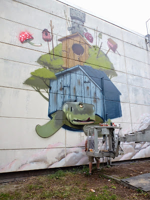 Schildkröte, Mr. Woodland, Graffiti, Streetart