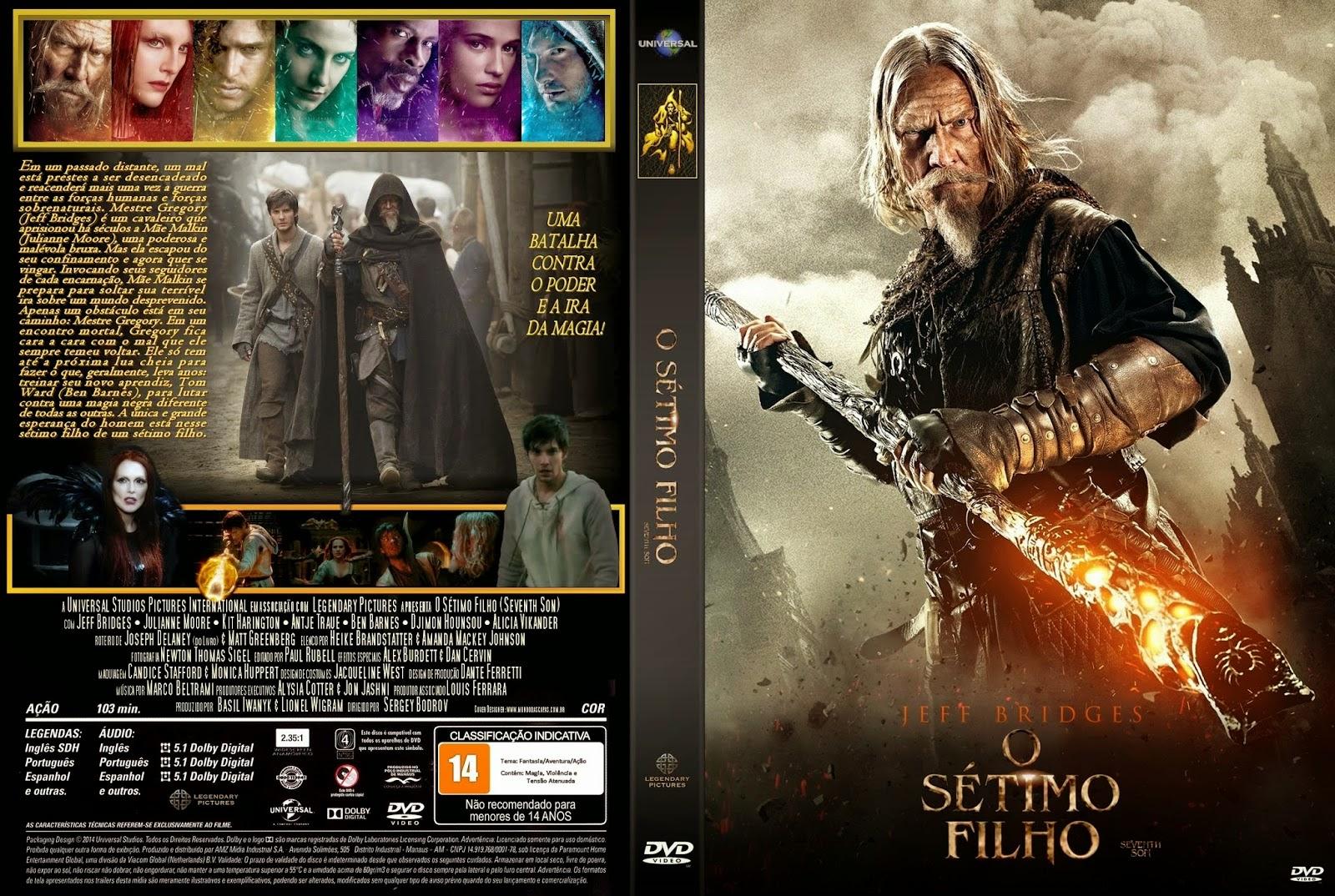 Download O Sétimo Filho DVD-R O S C3 A9timo Filho   Capa Filme DVD