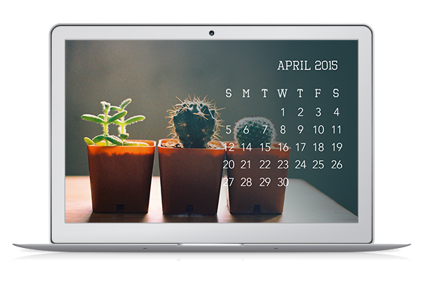 mai paper shop, desktop wallpaper, april 2015 desktop calendar, free desktop download, digital wallpaper, i am mai