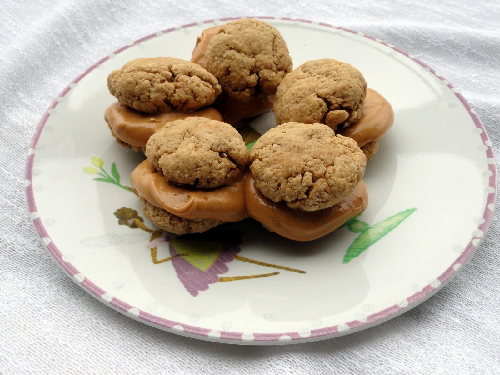 As Good As Gluten: Oatmeal Peanut Butter Sandwich Cookies