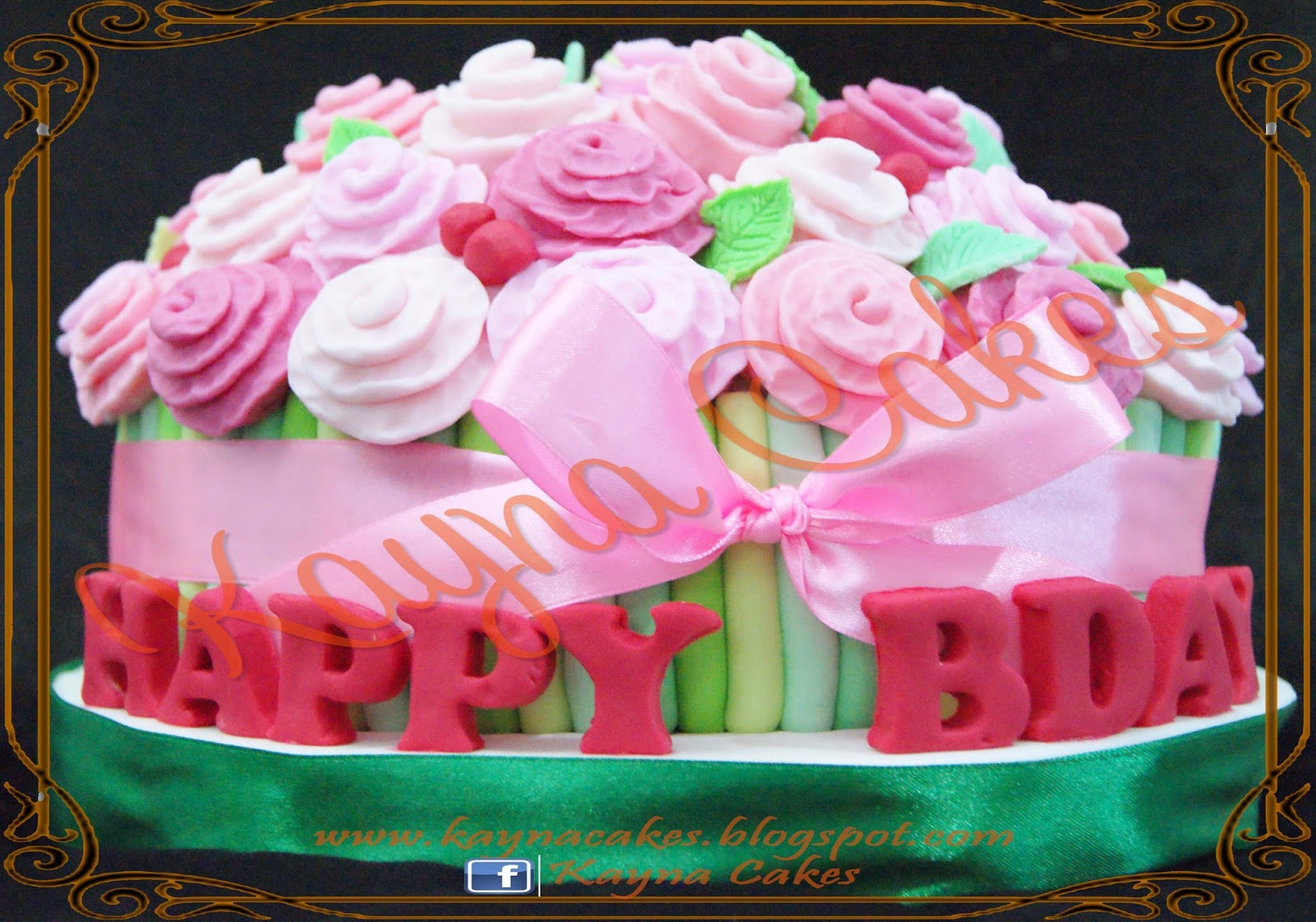 Kayna cakes and cupcakes mommies bouquet of roses cake mommies bouquet of roses cake dhlflorist Images