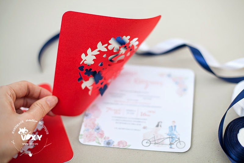 invitatie de nunta personalizata, invitatie de nunta pictata, invitatie de nunta decupata, invitatie de nunta deosebita, invitatie de nunta handmade, invitatii nunta handmade