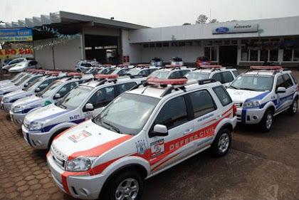 Vtr Defesa Civil da GM de Foz do Iguaçu - PR.