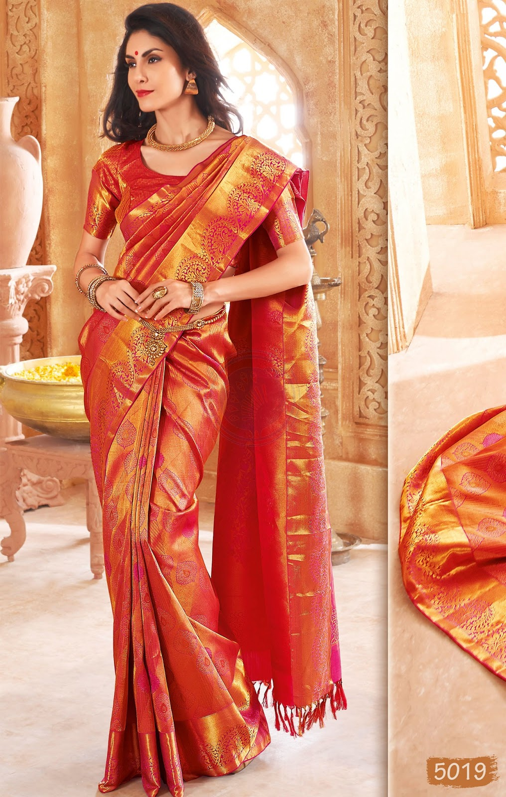 Latest Deepavali  Chennai Silk Saree Designs Stills