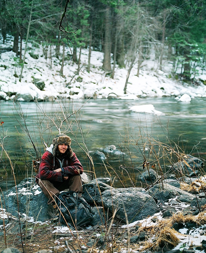 medium format portrait Merced river Yosemite