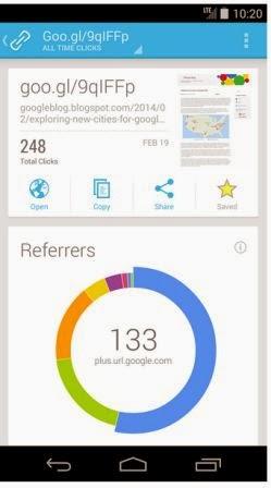 Google URL Shortener sekarang tersedia untuk Android
