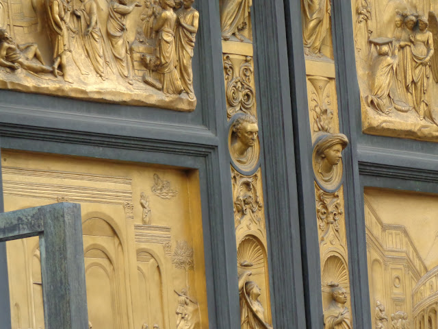 The Gates of Paradise, East doors to the Florence Baptistery - Detail
