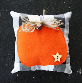 Fall Pumpkin Pillow Bowl Filler