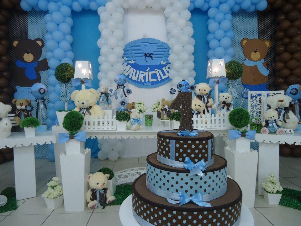 decoracao festa urso azul e marrom:Urso Marrom e Azul