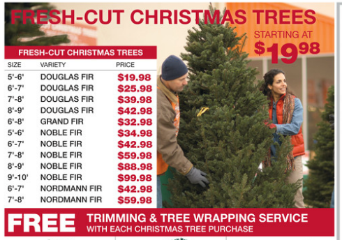 Home Depot Christmas Tree Prices