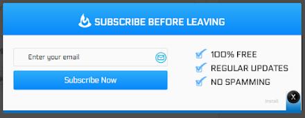 Feedburner Subscription Form Popup - Blogspot