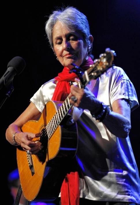 folk music legend joan baez to