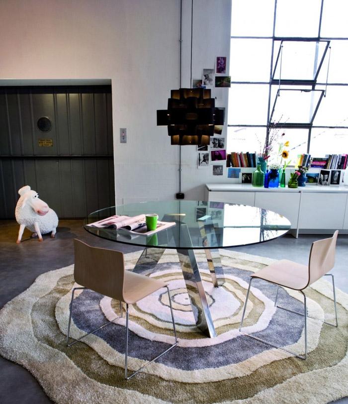 mesas de comedor-mesa redonda de vidrio-modelo fix de Former