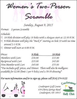 8-9 Women's 2 Person Scramble