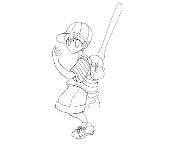#2 Ness Coloring Page