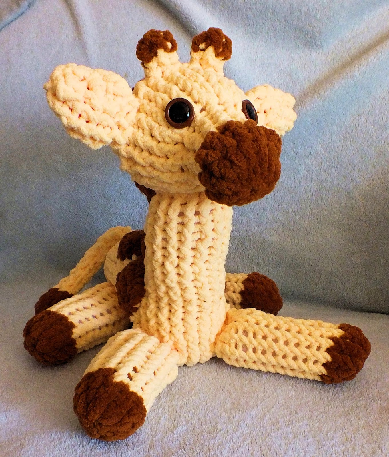 Knitting Pattern Giraffe : The Loom Muse : How to Loom Knit a Giraffe Pattern