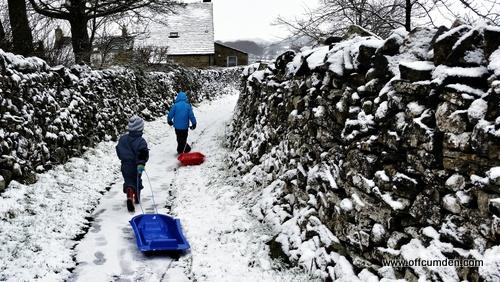 Yorkshire Dales sledging