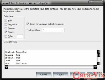 Cara Memisahkan 1 Kolom Menjadi 2 Kolom Pada Excel