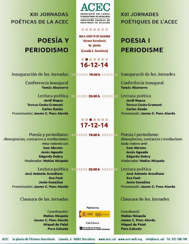 XIII Jornadas Poéticas de la ACEC