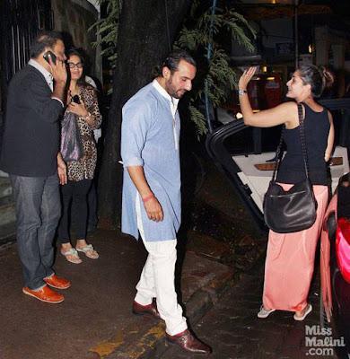 Saif Ali Khan & Kareena Kapoor  spotted at Bandra