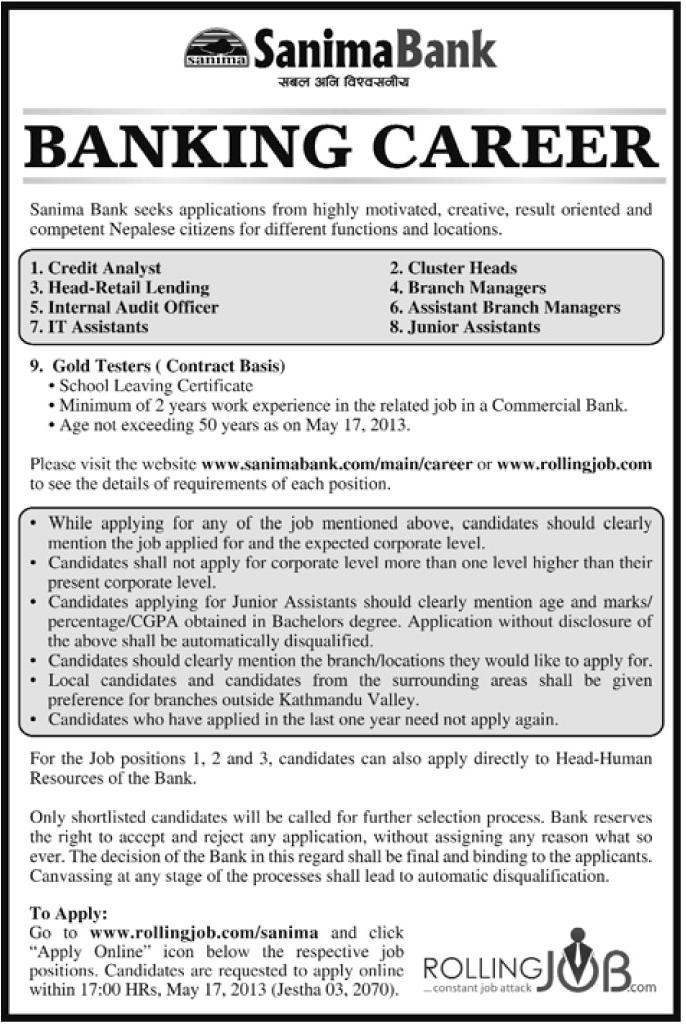 banking career opportunities