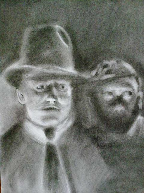 fotograma de cine negro con conte