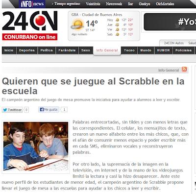 24CON Quieren quese juegue al Scrabble en la escuela