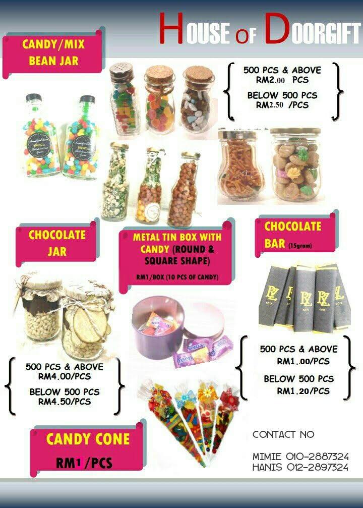 House of doorgift pakej doorgift perkahwinan for Idea door gift cukur jambul