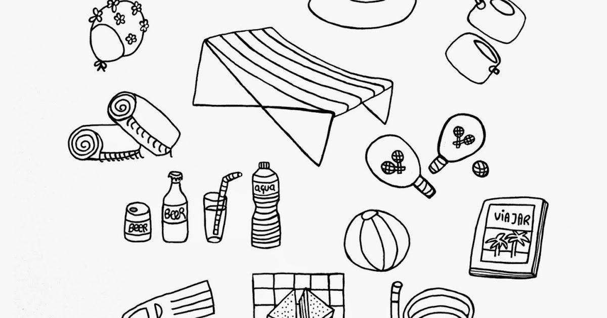 Los Garabatos de Sapeón: Dibujo verano & playa para colorear ...