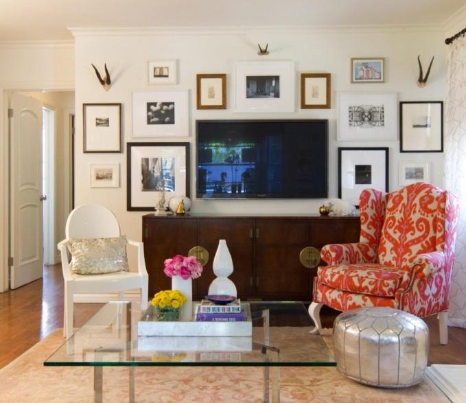 1201north julie 39 s living room tv wall art gallery for Framed artwork for living room