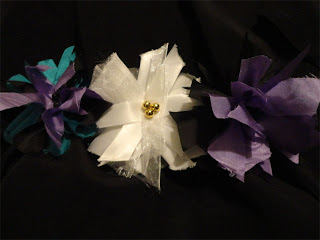 fabric strip flowers